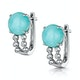 8mm Amazonite and Diamond Stellato Earrings in 9K White Gold - image 3