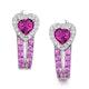 Rhodolite Pink Sapphire and Diamond Stellato Earrings in 9K White Gold - image 1