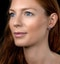 Rhodolite Pink Sapphire and Diamond Stellato Earrings in 9K White Gold - image 2
