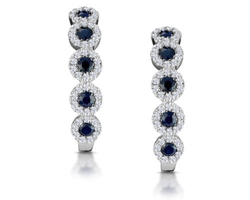 Sapphire Huggy Earrings