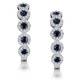 0.43ct Sapphire and Diamond Stellato Earrings in 9K White Gold - image 1