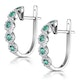 0.33ct Emerald and Diamond Stellato Earrings in 9K White Gold - image 3