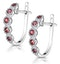 0.38ct Ruby and Diamond Earrings in 9K White Gold Stellato Collection - image 3