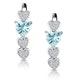 0.60ct Aquamarine and Diamond Heart Stellato Earrings - 9K White Gold - image 1