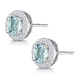 0.69ct Aquamarine and Diamond Halo Stellato Earrings in 9K White Gold - image 3