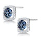 Sapphire and Diamond Earrings in 9K White Gold - Stellato Collection - image 3