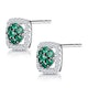 0.23ct Emerald and Diamond Stellato Earrings in 9K White Gold - image 3