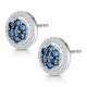 0.35ct Sapphire and Diamond Stellato Earrings in 9K White Gold - image 3