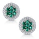 0.30ct Emerald and Diamond Stellato Earrings in 9K White Gold - image 1
