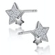 Shooting Star Diamond Earrings Stellato Collection in 9K White Gold - image 2