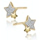 Shooting Star Diamond Earrings Stellato Collection in 9K Gold - image 2