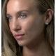 Stellato Diamond Heart Earrings in 9K White Gold - image 3