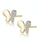 Stellato Butterfly Diamond Earrings in 9K Gold - image 2