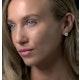 Diamond and Stellato Black Diamond Squares Earrings in 9K White Gold - image 3
