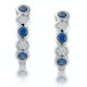Stellato Sapphire and Diamond Eternity Earrings in 9K White Gold - image 1