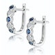 Stellato Sapphire and Diamond Eternity Earrings in 9K White Gold - image 2