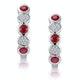 Stellato Ruby and Diamond Eternity Earrings in 9K White Gold - image 1