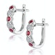 Stellato Ruby and Diamond Eternity Earrings in 9K White Gold - image 2