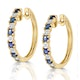 Sapphire 0.71ct and Diamond Hoop Earrings in 9K Gold - image 2