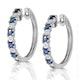 Stellato Sapphire 0.71ct And Diamond 9K White Gold Earrings - image 2