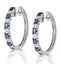 Stellato Sapphire 0.71ct And Diamond 9K White Gold Earrings - image 2