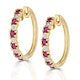 Stellato Ruby 0.86ct And Diamond 9K Gold Earrings - image 2