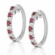 Stellato Ruby 0.86ct And Diamond 9K White Gold Earrings - image 2