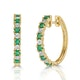 Stellato Emerald 0.63ct And Diamond 9K Gold Earrings - image 1