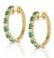 Stellato Emerald 0.63ct And Diamond 9K Gold Earrings - image 2