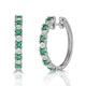 Stellato Emerald 0.63ct And Diamond 9K White Gold Earrings - image 1