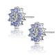 Tanzanite 0.52CT And Diamond 9K White Gold Earrings - image 2
