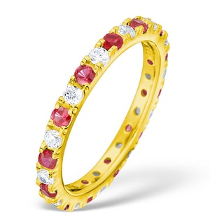 Poppy 18K Gold Ruby and G/VS 1CT Diamond Eternity Ring  HG20-322TXUA