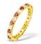 Poppy 18K Gold Ruby and H/SI 1CT Diamond Eternity Ring  HG20-322TJUA - image 1