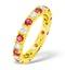 Poppy 18K Gold Ruby 0.70ct and G/VS 1CT Diamond Eternity Ring - image 1