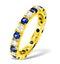 Poppy 18K Gold Sapphire 0.70ct and G/VS 2CT Diamond Eternity Ring - image 1