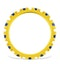 Poppy 18K Gold Sapphire 0.70ct and H/SI 1CT Diamond Eternity Ring - image 2