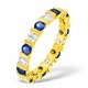 Hannah 18K Gold Sapphire 0.70ct and G/VS 2CT Diamond Eternity Ring - image 1