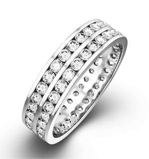 Mens 1ct H/Si Diamond 18K White Gold Full Band Ring  IHG38-322JUY
