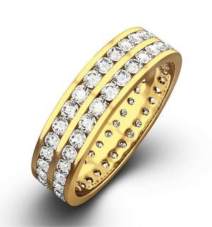 Mens 1ct H/Si Diamond 18K Gold Full Band Ring  IHG38-322JUA