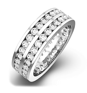 Mens 2ct H/Si Diamond 18K White Gold Full Band Ring  IHG38-422JUY