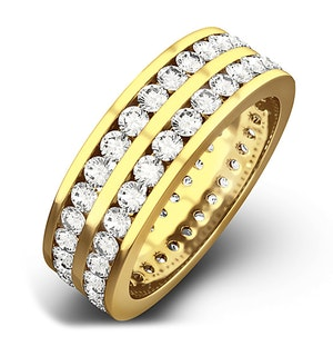 Mens 2ct G/Vs Diamond 18K Gold Full Band Ring