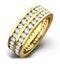 Mens 2ct G/Vs Diamond 18K Gold Full Band Ring - image 1