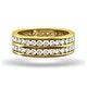 Mens 2ct H/Si Diamond 18K Gold Full Band Ring - image 2