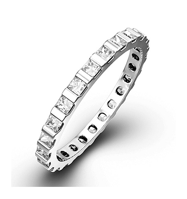 Eternity Ring Olivia 18K White Gold Diamond 3.00ct G/Vs - image 1