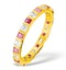 Olivia 18K Gold Ruby 0.65ct and H/SI 0.5CT Diamond Eternity Ring - image 1