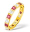 Olivia 18K Gold Ruby 1.25ct and H/SI 1CT Diamond Eternity Ring - image 1