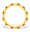 Olivia 18K Gold Ruby 0.65ct and H/SI 0.5CT Diamond Eternity Ring - image 2