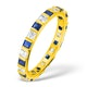 Olivia 18K Gold Sapphire 0.70ct and H/SI 0.50CT Diamond Eternity Ring - image 1