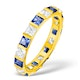 Olivia 18K Gold Sapphire 1.30ct and H/SI 1CT Diamond Eternity Ring - image 1