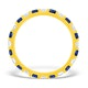 Olivia 18K Gold Sapphire 0.70ct and H/SI 0.50CT Diamond Eternity Ring - image 2